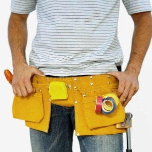 electrician with tool belt